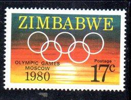 Z884A - ZIMBABWE 1980 , Olimpiadi Di Mosca Nuovo  ***  MNH  (2380A) - Zimbabwe (1980-...)