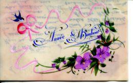 N°74533 -carte Celluloïd -année De Bonheur- - Fantaisies