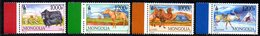 Mongolie Mongolia 2899/902 Faune , Yack , Cheval , Chameau , Renne, Yourte - Stamps