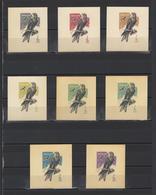 ++ 1965 Hunting Birds 4 Kop Nominal In Different Colour Thick Paper Colour Proof - Essais & Réimpressions