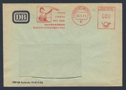 Deutschland Germany 1967 Adressband - Fahr Lieber Mit Der Bundesbahn, Frankfurt Am Main / Ride With The Bundesbahn - Treinen
