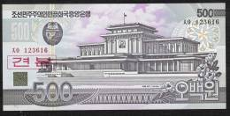 COREE DU NORD P44s1  500  WON    1998   SPECIMEN  Regular Serial #s UNC. - Korea, North