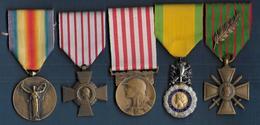 Lot De 5 Médailles - Frankreich