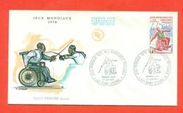SCHERMA - FRANCIA - 1970 - JEUX MONDIAUX HENDICAPES - SAINT ETIENNE - Scherma