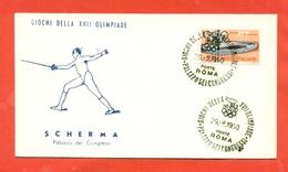 SCHERMA - OLIMPIADI ROMA - 1960 - Scherma