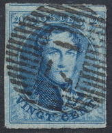 "Médaillon - N°11A (3 Marges + 1 Voisin) Obl D71 ""Engis"". Luxe ! - 1858-1862 Médaillons (9/12)"