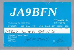 JP.- QSL KAART. CARD. JAPAN. JA9BFN. YOSHIAKI YAHATA - AKI -. TAKAOKA. - Radio Amatoriale
