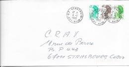 BAS RHIN 67 -  GERSTHEIM  -  CACHET RECETTE R A9 - 1990  -  CATALOGUE A. LAUTIER - Marcophilie (Lettres)