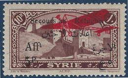 "France Colonies Grand Liban Poste Aerienne N°16d ""Au Sans X"" TTB Signé Calves - Great Lebanon (1924-1945)"