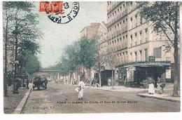 75 PARIS AVENUE DE CLICHY ET COIN  DE LA RUE  BOULAY     TBE  PA176 - Places, Squares