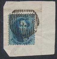 """Médaillon Dentelé - N°15 Sur Fragment De Lette Obl D65 """"Warnant - Drey"""". Superbe Frappe ! - 1863-1864 Médaillons (13/16)"""