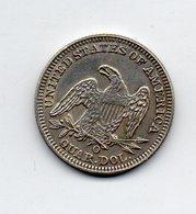 USA : 1/4 Dollar 1855 - 1838-1891: Seated Liberty (Liberté Assise)