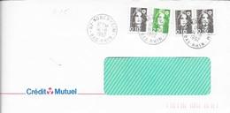 BAS RHIN 67 -  KOGENHEIM -  CACHET RECETTE R A9 -   1992  -  CATALOGUE A. LAUTIER - Marcophilie (Lettres)