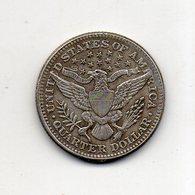 USA : 1/4 Dollar 1896 - 1892-1916: Barber