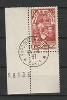 FRANCE 1936 YT N° 312 Obl. Coin De Feuille Exposition 1937 - Usati