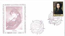 33505. Carta Exposicion REUS (Tarragona) 1996. Josep LLOVERA, Farmacia, Farmaceutico, Pintor - 1931-Hoy: 2ª República - ... Juan Carlos I