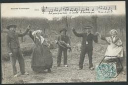Bourrée D'Auvergne , Danseurs , Musicien.  Mbh 86 - Tänze