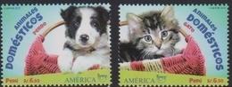 PERU, 2018, MNH, UPAEP, DOMESTIC ANIMALS, DOGS, CATS,2v - Domestic Cats