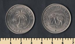 Liberia 2 Cents 1941 - Liberia
