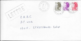 BAS RHIN 67 -  MUTTERSHONTZ   -  CACHET RECETTE R A9 -   1999  -  CATALOGUE A. LAUTIER - Manual Postmarks