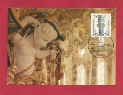 BRD 1985  Mi.Nr. 1251 , 300. Geb. Von Dominikus Zimmermann - Hagenbach  Maximum Card - Limitierte Auflage - Stempel Bonn - Kirchen U. Kathedralen