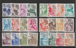 France Préoblitérés 1977-80 Du N°146 à 169 24 Val ** MNH - Voorafgestempeld