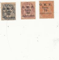 SYRIE Y.T. No 45-46-47 H - Syria (1919-1945)