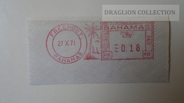 D165760  EMA-METER STAMP-FREISTEMPEL  -CUT  -Bahamas Freeport 1971 - Bahamas (1973-...)