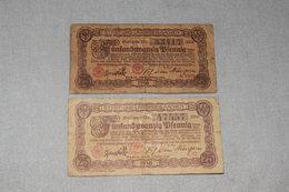 2 X 25 Pfennig Stadt-und Landkreisaachen 1918 - [ 2] 1871-1918 : Impero Tedesco