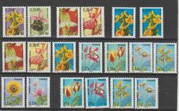 France Préoblitérés Fleurs 2002-11 Du N°244 à 262 19 Val ** MNH - Voorafgestempeld