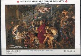 "Ordre De Malte ** Ref. Unificato - Bloc N° BF 79 - Noël. Tableau De Rubens ""Adoration Des Mages"" - Malta (Orde Van)"
