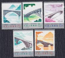 China 1978 Road Bridges, MNH (**) Michel 1457-1461 - Neufs