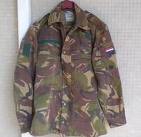 Giacca Pantaloni Mimetici Olandesi DPM Del 1990 Etichettati Usato Buono Stato - Divise