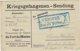 (1914-1918) Kriegsgefangenen Sendung - Depot Prisonniers De Guerre - Du Fort Du Murier ( Isre) - Weltkrieg 1914-18