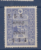 CILICIE 69 DOUBLE SURCHARGES DONT UNE RENVERSEE   NEUF CHARNIERE ROUSSEURS - Cilicia (1919-1921)