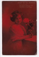 AK34 Children - Young Girl On A Birthday Card - Children And Family Groups