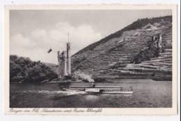 AK35 Bingen Am Rh. Mauseturm Und Ruin Ehrenfels - Ruedesheim A. Rh.