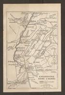 CARTE PLAN 1934 - ALGERIE EXCURSIONS Dans L'AURES - BATNA EL KANTARA BISKRA TIMGAD LAMBESE - Cartes Topographiques