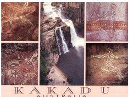 (ED 68) Australia - NT - Kakadu Aboriginal Rock Art Paintings +  Waterfall - Aborigènes