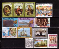52g * NICARAGUA * 13 X DIVERSE SONDERMARKEN * GESTEMPELT ** !! - Nicaragua