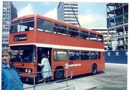 35mm ORIGINAL PHOTO BUS HAMPSHIRE BUS DOUBLE DECKER KEMPSHOT - F032 - Photographs