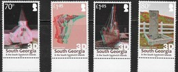 SOUTH GEORGIA, 2019, MNH, 3D STAMPS, CHURCHES, SHIPS, WHALING, HARPOONS, SHACKLETON'S GRAVE,4v - Churches & Cathedrals