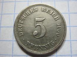 5 Pfennig 1900 (A) - [ 2] 1871-1918 : German Empire