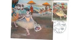 Carte Premier Jour  / Danseuse Au Bouquet   / Degas / Paris / 14 -11-1970 - Cartoline Maximum