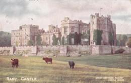 AS62 Raby Castle - GWR Great Western Railway Postcard - Durham