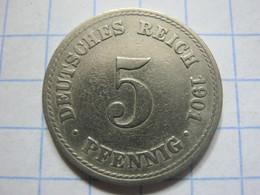 5 Pfennig 1901 (A) - [ 2] 1871-1918 : German Empire