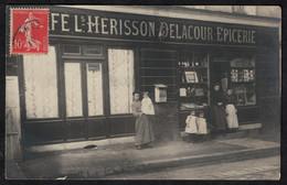 Cpa Carte Photo Située Sotteville Les Rouen épicerie Café Hérisson Delacour BT315 - Sotteville Les Rouen