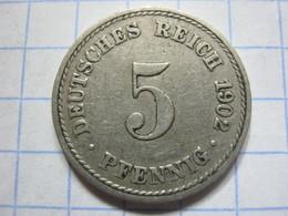 5 Pfennig 1902 (A) - [ 2] 1871-1918 : German Empire