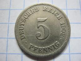 5 Pfennig 1902 (F) - [ 2] 1871-1918 : German Empire