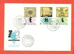SCACCHI - UNGHERIA - MAGYAR POSTA -1974 - Scacchi